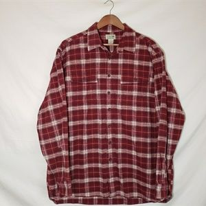 L.L Bean Men's Red Flannel Button Down